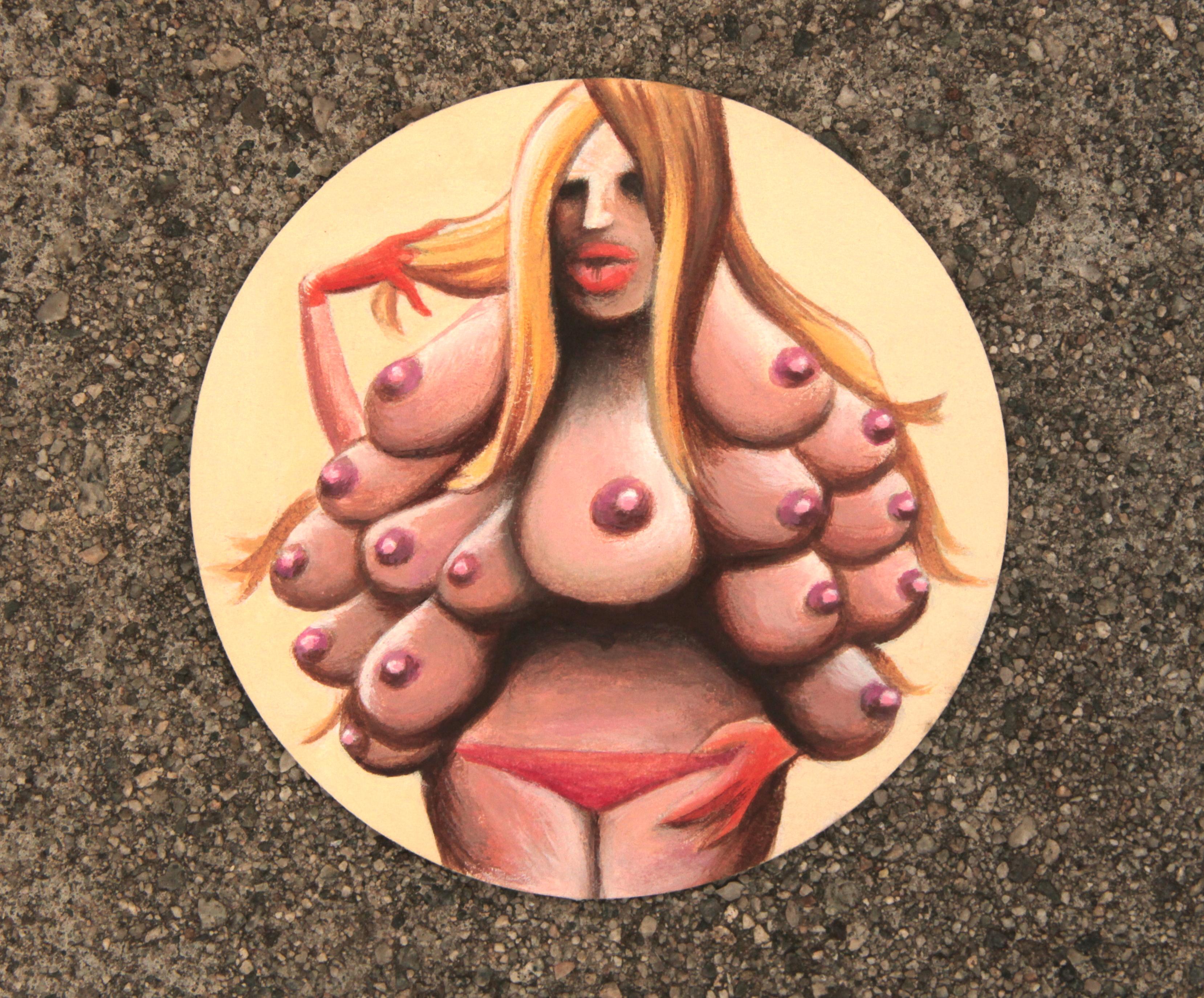 """Abundance, acrylic on canvas (4"""" x 4"""")"""