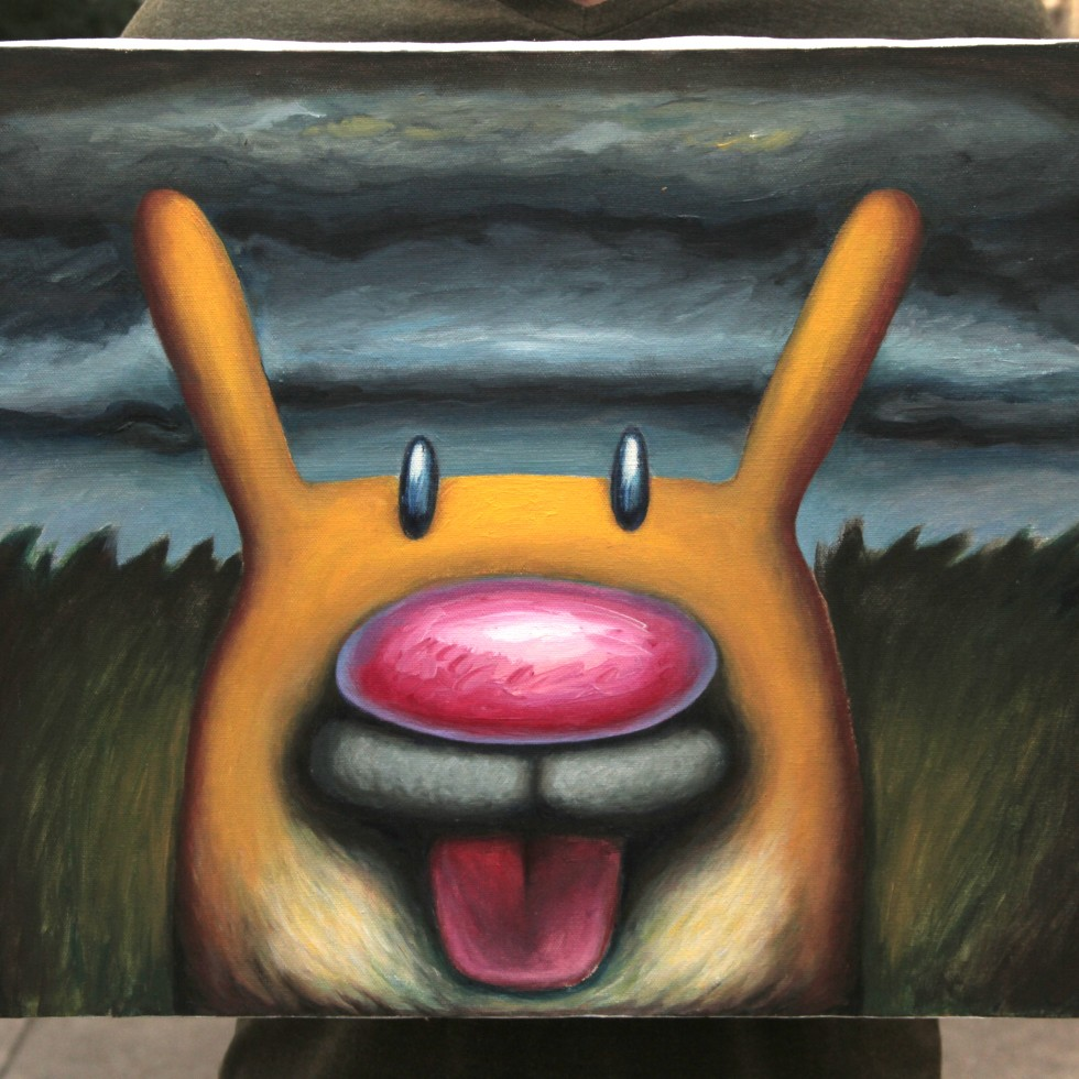 Mirth From The Earth, acrylic on canvas (20 x 16)