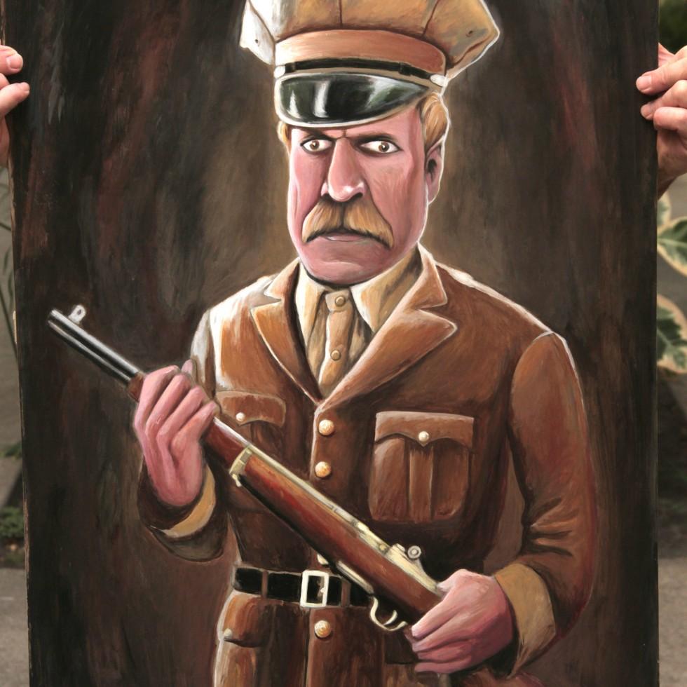 Sheriff Proctor, acrylic on canvas (23 x 36)